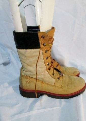 Womens TIMBERLAND 33388 FLORAL LEATHER Chukka BOOT 9 WHEAT Brown Hiking