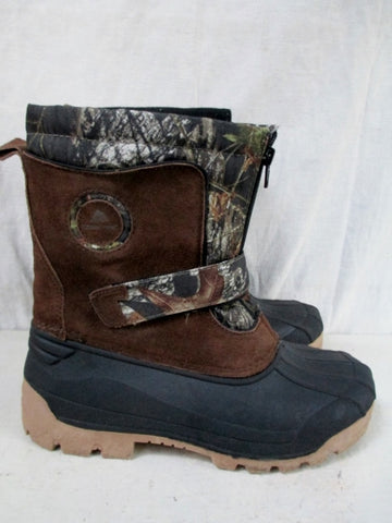 Boys OZARK TRAIL Rubber Lined Duck Boots Shoes Trail Snow BROWN CAMO 5