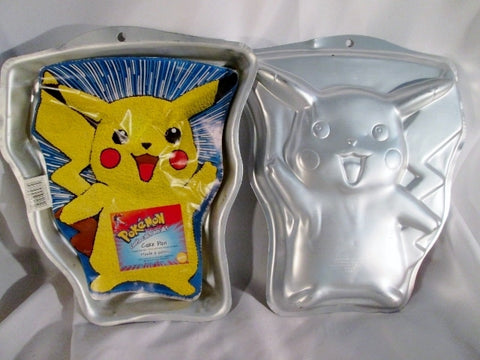 "NEW 14"" WILTON Set 2 POKEMON GO PIKACHU Cake PAN Mold Baking Birthday Character"