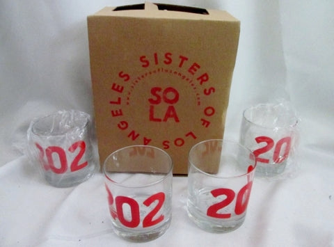 NEW Set 4 Sisters Of Los Angeles SoLA 202 WASHINGTON DC Cups Glasses Tumbler Organic Ink