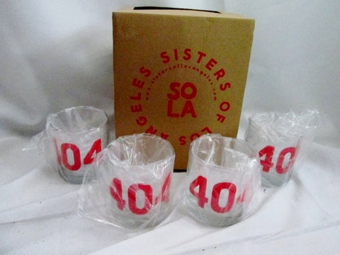 NEW Set 4 Sisters Of Los Angeles SoLA 404 ATLANTA GA Cups Glasses Tumbler Organic Ink