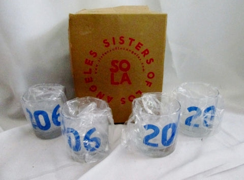 NEW Set 4 Sisters Of Los Angeles SoLA 206 SEATTLE WA Cups Glasses Tumbler Organic Ink