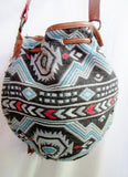 AMERICAN EAGLE OUTFITTERS Ethnic Tapestry Carpet Shoulder Bag Purse Bucket Blanket Crossbody AEO