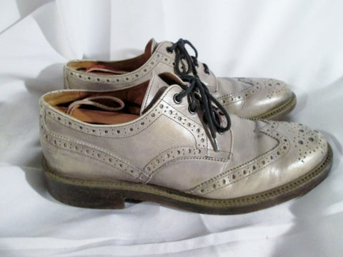 Mens MR. B'S ALDO Leather Wing Tip Lace Up Oxford Brogue Loafer 43 10 GRAY Shoe