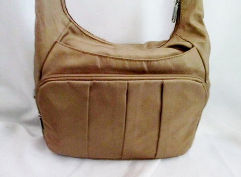 TRAVELON  Messenger Crossbody Anti-theft Shoulder Bag BROWN Travel Man Purse