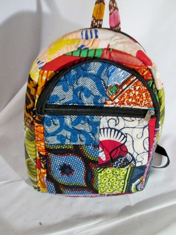 NEW Handmade Patchwork Padded Cotton BACKPACK Rucksack Ethnic Hippie MULTI