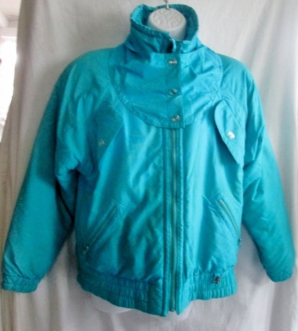 Womens FERA SKI WEAR Snowboard Jacket Coat Bomber Hood Winter 8 AQUA BLUE