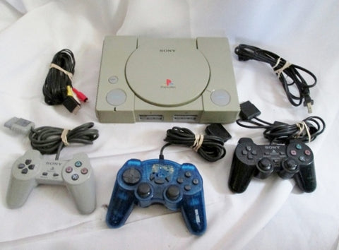 SONY PLAYSTATION SCPH-7501 Console Controllers Video Game Set Bundle