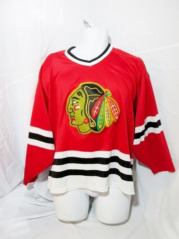 Boys Mens CHICAGO BLACKHAWKS Sports Football Soccer Jersey RED M Colorful