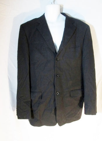 MENS VITTORIO ST. ANGELO Single Breasted JACKET Sport Coat BLAZER Black 40