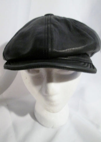 USA Moto LAMBSKIN LEATHER Biker RIDING Cap Hat BLACK L Cosplay Industrial Beanie