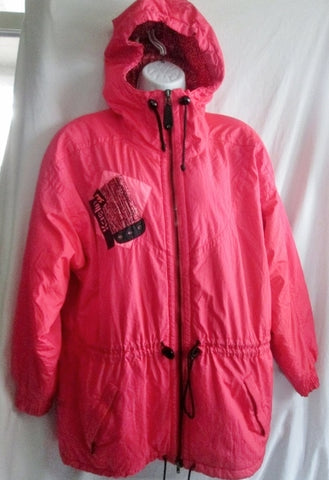 Womens KAELIN SKI Snowboard Jacket Coat Bomber Hood Winter NEON PINK 6 Lined