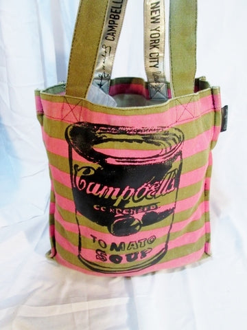 ANDY WARHOL CAMPBELL'S SOUP Canvas Tote Bag Pop Art Shopper SUPERFICIAL PERSON