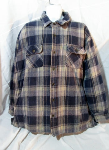 MENS SMITH'S BROOKLYN Hunting JACKET Coat PLAID Lined 2XL XXL BLUE TAN Tartan