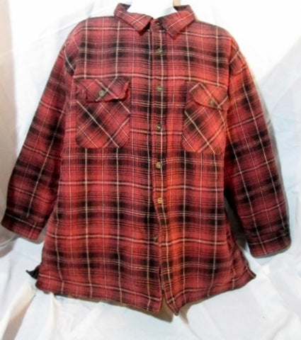 MENS SMITH'S BROOKLYN Hunting JACKET Coat PLAID Lined 2XL XXL RED BLACK Tartan