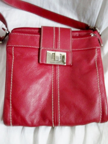TIGNANELLO Leather Handbag Crossbody Shoulder Bag Messenger Swingpack RED