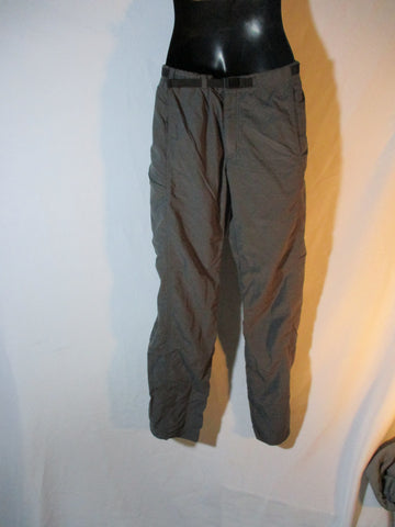 Mens PATAGONIA Nylon Pants Trousers M INDUSTRIAL GREEN Packable Hiking Camping
