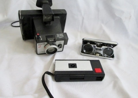 Vintage Lot Camera Japan Opera Glasses POLAROID KODAK SPORT
