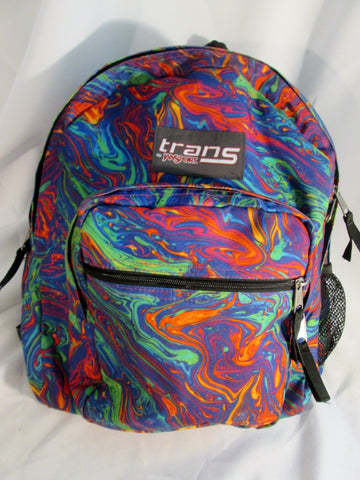 TRANS JANSPORT Backpack Rucksack Bag Travel Book BAG Gym School MULTI Swirly