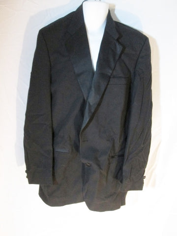MENS PERRY ELLIS USA Button Up JACKET Sport Coat BLAZER Black 43 XL