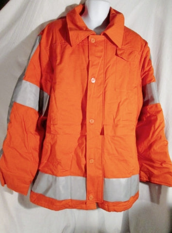 MENS WESTEX ULTRASOFT HRC2 CORCRAFT Safety Jacket Coat XL ORANGE STRIPE REFLECTIVE
