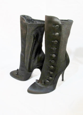 NEW BALMAIN PARIS High Heel Boot ITALY 36 BLACK 6 NIB Victorian Steampunk Womens