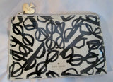 KATE SPADE OPTICAL ILLUSION GLASSES Baguette Case Purse Clutch BLACK WHITE Bag