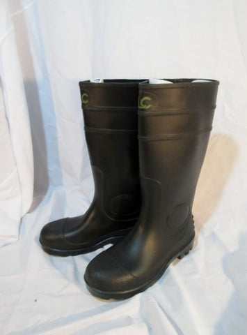 Mens CLC CUSTOM LEATHERCRAFT Wellies Rain Boots Rainboots 7 BLACK