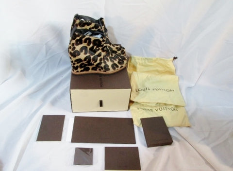 NEW LOUIS VUITTON STEPHEN SPROUSE LEOPARD BOOTIE Shoe 36 6 Ankle Boot NIB Womens