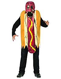 Adult Womens Mens RASTA IMPOSTA ZOMBIE HOT DOG Halloween Costume Disguise Cosplay