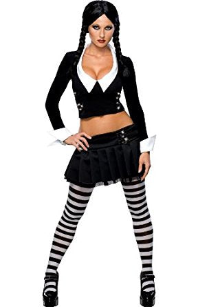 Womens WEDNESDAY ADDAMS Family Halloween Costume  Disguise Cosplay M