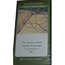 Great Courses THE HISTORY OF THE ENGLISH LANGUAGE DVD Set Parts 1-3 Teaching Company