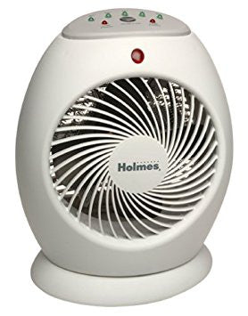 HOLMES HFH416 ONE TOUCH 1-Touch Swirl Grill Power Compact Heater EUC - WHITE