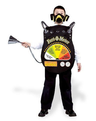 Kids Youth FART-O-METER Disguise Halloween Costume Cosplay Party M 7-10 Humor Funny