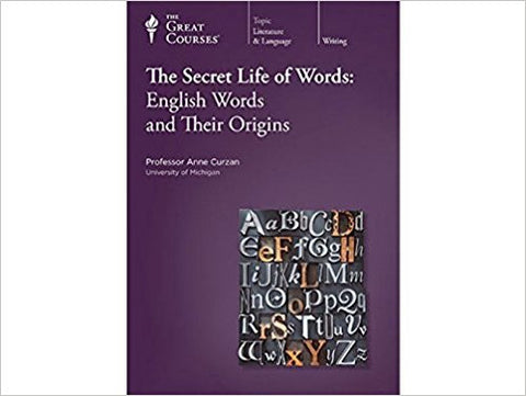 Great Courses THE SECRET LIFE OF WORDS ENGLISH ORIGINS CD Set Teaching Company Language