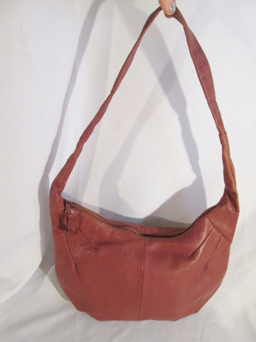 NEW SAMANTHA SCOTT leather pleated hobo satchel shoulder tote bag boho BROWN purse CHOCOLATE