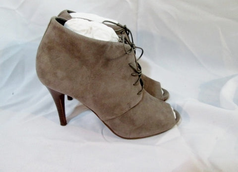 NEW Womens J. CREW ITALY Suede BOOTIE Ankle BOOT BROWN 6.5 Peep Toe
