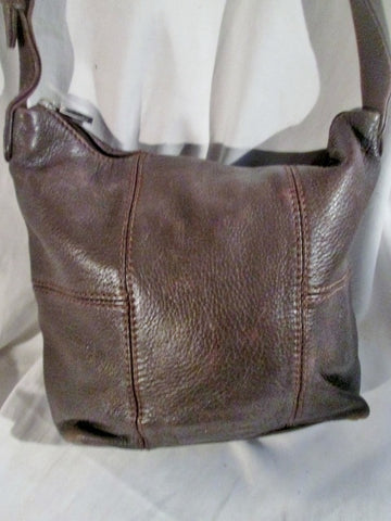 STONE MOUNTAIN leather satchel shoulder bag hobo cross body purse BROWN CHOCOLATE
