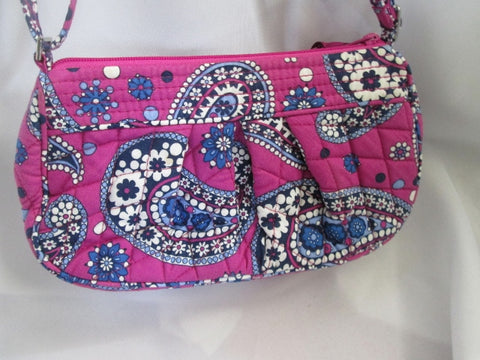 VERA BRADLEY BOYSENBERRY Mini Vegan Quilted Satchel Hobo Shoulder Bag BERRY PINK BLUE