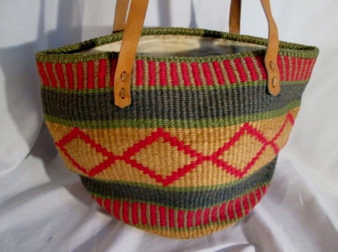 Ethnic Woven Knit Hobo Bucket Sling Shoulder Bag Stripe Boho Leather Wool GEOMETRIC