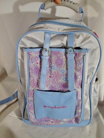 AMERICAN GIRL BACKPACK Shoulder Rucksack Travel School Book BAG PURPLE Floral