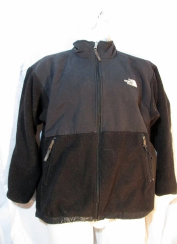 Youth Boys THE NORTH FACE FULL ZIP POLARTEC FLEECE JACKET Coat BLACK XL Girls Junior