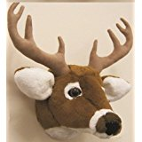 "12"" Stuffed Animal House DEER Plush Head Wall MOUNT Wall Vegan Hunting Animal Faux Taxidermy"