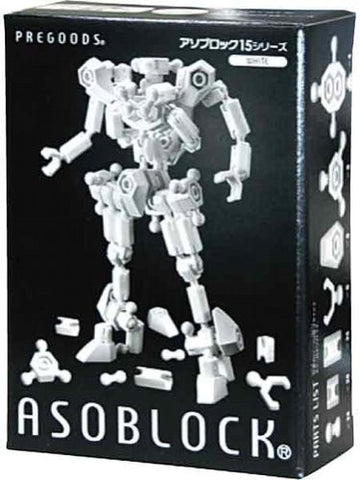 NEW ASOBLOCK BASIC 151W WHITE Building Block Toy