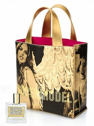 VICTORIA'S SECRET SUPERMODEL TOTE Market Bag Beach Book Shopper Carryall SILVER