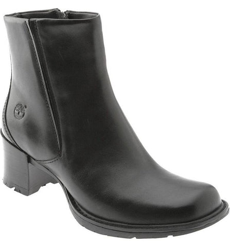 Womens TIMBERLAND ALYSE 62317 Leather Ankle BOOT BLACK 9 Bootie Shoe