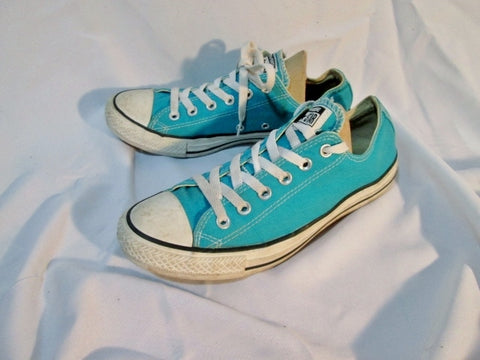 CONVERSE ALL STAR CHUCKS Chuck Taylor Lowrise Sneaker AQUA BLUE Mens 7 Womens 9