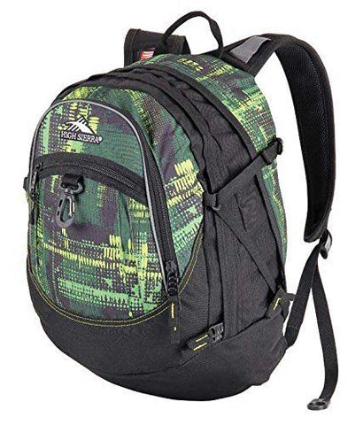 NEW NWT HIGH SIERRA FAT BOY COVERT CAMO Backpack Rucksack School BLACK Green Vegan Book