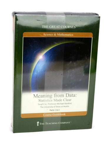 NEW Great Courses MEANING FROM DATA:  STATISTICS MADE CLEAR DVD Set Teaching Company