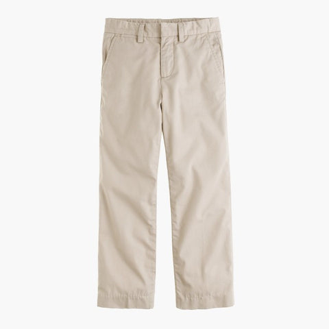 NEW CREWCUTS J. CREW Kids Lightweight Khaki Cotton Chinos STRAIGHT PANTS 12